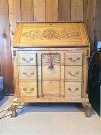 Carved Oak Desk