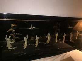 Mother of Pearl Chinoserie Headboard.  Stunning!