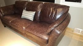 Donetta Leather Sofa