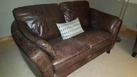 Donetta Leather love seat