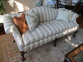 Vintage, fully refinished Baker sofa.  Down filled cushion.  It's a beauty!
