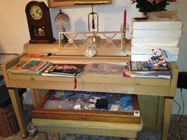 Clock, piano, Elvis collectibles