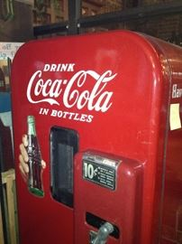 Vintage10 cent coke machine