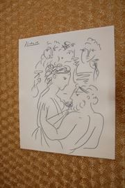Picasso, Owner has authenticity papers,  asking $60,000.00