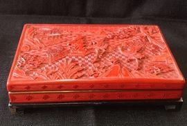 Cinnabar Lacquer Box