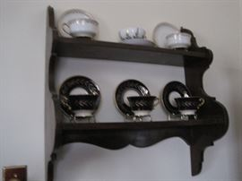 shelf with cups & saucers
