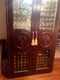 Vinotemp Wine Cabinet. *wine not included