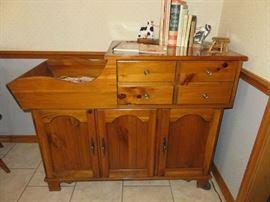 Oak  Dry Sink Cabinet