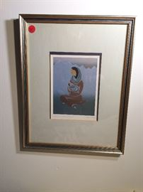 Framed print: Dakota Mother and Child by Ioyan Mani