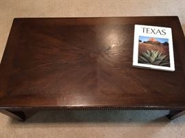 Coffee table with two matching end tables.