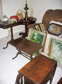 antique occasional tables art work