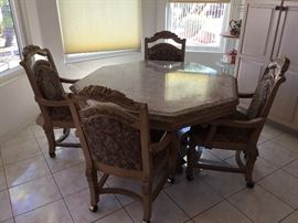 Gorgeous Marble Top Table & Chairs