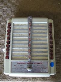 Front of Tabletop Unit for a Seeborg Juke Box