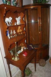 Secretary and corner gun cabinet