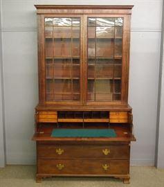Mahogany Bookcase Secretary