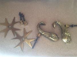 Rare Vintage Brass Knockers