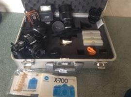 Minolta Camera with Accessories