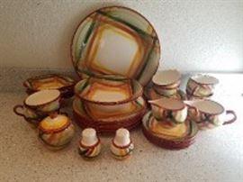 Vintage 1940s Vernonware Hand Painted Dish Set