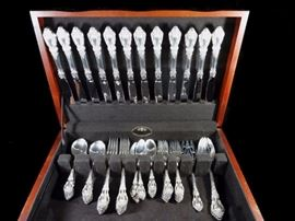 63 PC LUNT STERLING SILVER FLATWARE, SERVICE FOR 12, ELOQUENCE PATTERN