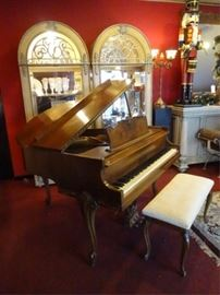 "VINTAGE WICKHAM BABY GRAND PIANO, 54"" APARTMENT SIZE, VERY GOOD CONDITION"