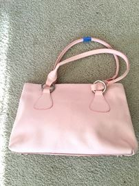 Italian pink leather bag (Firenze)
