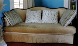 Art Deco Sofa with Custom Upholstery and Pillows