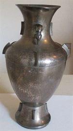Large Chinese silver vase