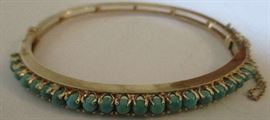 Turquoise and 14kt