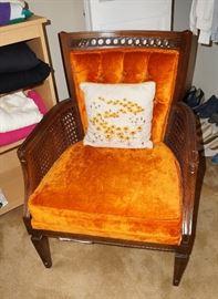 Love this little burnt orange chair