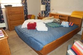 KING platform bed with under bed storage.  Mattress is in great condition.
