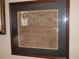 Antique Sampler June 4, 1801