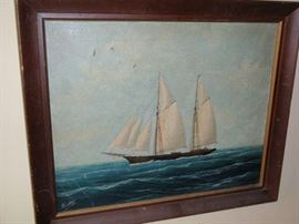 Mid 19th Century Oil on Canvas American Painting