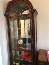 Glass front curio cabinet