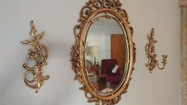 Mirror and Wall Sconces