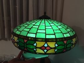 Antique stained glass lamp probably by Wilkinson