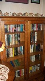bookcase & Lilliput lane collectibles