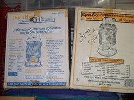 Two NEW Kerosene Heaters ... Still in original boxes..... Never Opened!
