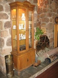 Lighted glass front display cabinet