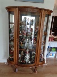 BOW FRONT CABINET, SANTA COLLECTION