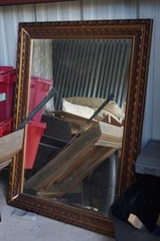 Large framed mirror