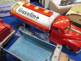 Vintage toy gas truck