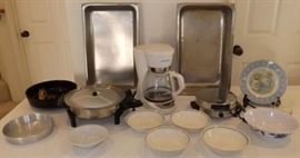ECT003 Electric Skillet, Coffee Maker, Stainless Pans & Dishes