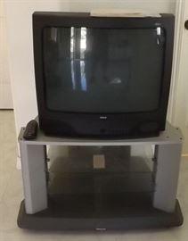 """ECT022 Big 25"""" RCA TV and Panasonic TV Stand"""
