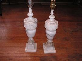 Matching alabaster lamps