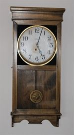 Antique clock from Bisbee, AZ,  also have a Howard Miller clock that chimes quarterly, strikes and counts on the hour.