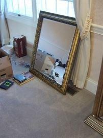 Gilt wall mirror.