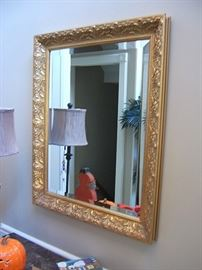 Gilt mirror.