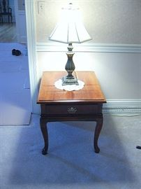 Queen Anne stand and table lamp.