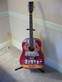 Rare Snapple guitar signed by Maroon five and Avril Lavigne.