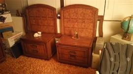 Red Lion Queen Bedroom set - 2 nightstands, headboard, dresser and armoire